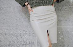 leather pencil skirt 레더 펜슬스커트