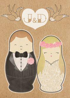 Matryoshka Wedding Invitations