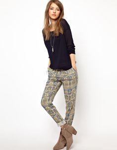Pepe Jeans London Paisley Print Trousers