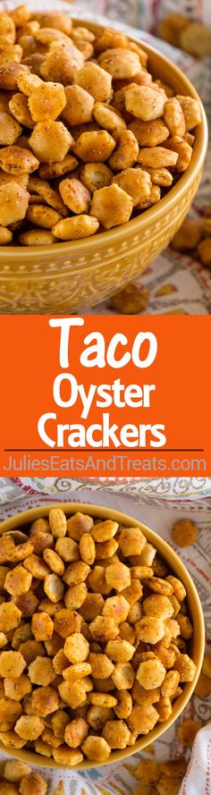 Taco Oyster Crackers Recipe ~ Quick, Easy Snack Mix Recipe that's Got a Kick to it! No One Will Be Able to Stop Munching on These!(Mix Recipes)