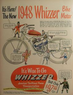 Whizzer, an odd bicycle to motorcycle conversion kit