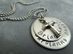 Personalized mothers necklace hand stamped by ajscustomjewelry