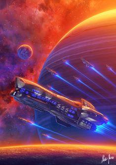 Battle Royal I Liberation War Book Elias Stern Spaceship Art, Spaceship Design, Star Trek, Stargate, Concept Ships, Concept Art, Starship Concept, Sci Fi Spaceships, 70s Sci Fi Art