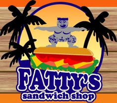 Fatty's Sandwich Shop! Panama City's Best Place for Sandwiches, Pizza, Wraps, and Breakfast! Hand chair. Rock & Roll posters all over walls. 15900 Front Beach Rd, Panama City Beach. Located at Calypso Towers, 1 block east of Pier Park. 850-249-1515. Salads, sandwiches, wraps, St. Louis style pizza, & breakfast. TripAdvisor #26/237 & 4.5/5 stars. 23min from hotel. By Dusty's Oyster Bar & PierPark.M-Sat 8am-9pm, Sun 10:30am-9pm