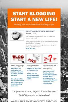 START BLOGGING START A NEW LIFE!