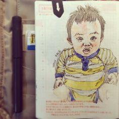 Jan 11th,2014.WOW face #SteveJournal2014 #ほぼ日手帳 #Hobonichi #手帳