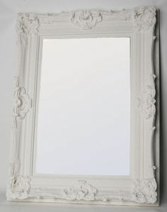 Bevelled Mirror in an Ornate White Frame 1315 x White Ornate Mirror, Gold Framed Mirror, White Wall Mirrors, Beveled Mirror, Large Full Length Mirrors, Louvre, Mirrored Furniture, Big Girl Rooms, Venetian Mirrors