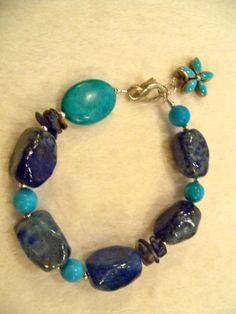 Handmade Bracelet Beaded Jewelry Lapis by HealingReikiJewelry, $79.99