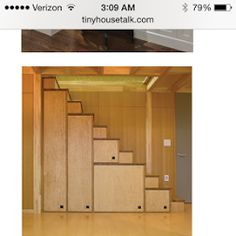 More stairs w/storage.