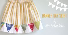 banner day skirt ~ cute idea, no tutorial