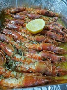 Las recetas de Maria Antonia: Langostinos al horno diu q esta molt bo