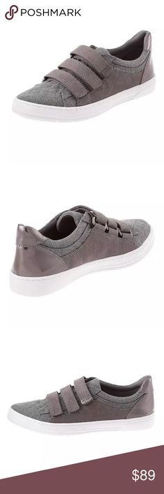 "NWB Anne Klein Sneakers Gray casual shoes Us 7.5 Urbanize your outfit with these triple Velcro® strapped mixed media sneakers from Anne Klein. 1"" heel / platform Closed round toe Closed back with elongated heel tab and full gunmetal metallic panel Three adjustable Velcro® straps at vamp with metal ""AK SPORT"" plate at upper end of strap Mixed blocked panels of soft and smooth media materials Cushioned footbed Manmade treaded outsole fabric / polyurethane (faux patent and smooth leather) upper…"