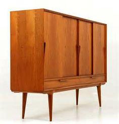 Omann Jun Danish Modern Teak Sideboard Danish Modern, Midcentury Modern, Furniture Decor, Furniture Design, Teak Sideboard, Mid Century Style, Jun, Side Board, Cabinet