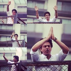 SRK at Mannat