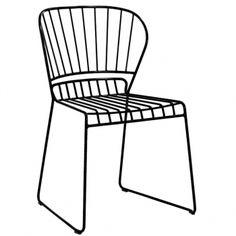 Resö tuoli, hiilenmusta
