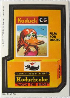 Koduckcolor. Wacky Packages Stickers. Topps 1979.
