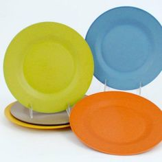 Bamboo Composite 10 U0027Dinner Plate Set Of 5 Assorted By 180 Degrees. $24.50.