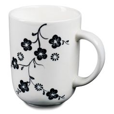 In a modern interpretation of age old designs and Vietnamese techniques, these ceramic mugs are crafted by hand and etched with a beautiful flower design onto bold and striking yellow, red, blue and white backgrounds.