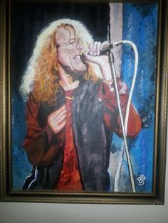 Robert Plant during the Unledded show on Canvas.  Work done by Bruce J Schmalfuss