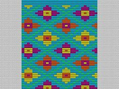 Patroon heeft 56 steken: 3 x op bodem van 168 steken of 4 x op een bodem van 224 steken