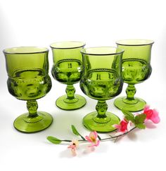 Indiana Glass Kings Crown Glasses Thumbprint by OldVintageGoodies, $24.00