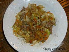 Cabbage Beef Skillet -- I added paprika.