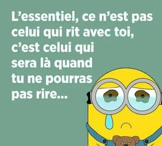 Minions, Message Positif, Messages, Fictional Characters, Image, Funny Stories, Humor, Life Lesson Quotes, Hilarious Quotes