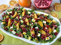 Sałatka z rukoli z pomarańczą i granatem Kung Pao Chicken, Cobb Salad, Potato Salad, Food And Drink, Cooking Recipes, Vegetables, Ethnic Recipes, Impreza, Xmas