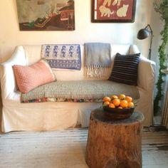 stump of oranges @killingsistergeorge Boho Living Room, Bohemian Living, Handmade Home, Modern Boho, Decor Interior Design, Design Elements, Sweet Home, Home And Garden, House Styles