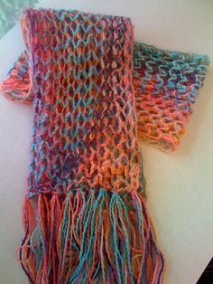 Salmon Scarf pattern by Diana Foster Knitting Projects, Knitting Patterns, Knit Scarves, Dog Sweaters, Yarn Shop, Washing Clothes, Shawls, Mittens, Knits