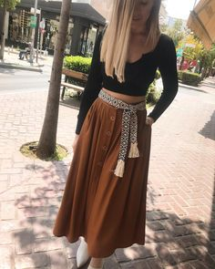 """6b75c9c3c81e Mille Bacini on Instagram  """"Our favorite new skirt 🌴  croptop  midiskirt   fashionistas  fashionstyle  outfitpost  fashionblogger  outfitideas4you    outfit ..."""