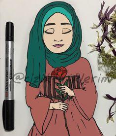 """368 Beğenme, 3 Yorum - Instagram'da @ciziktiriklerim: """"#iyigeceler # # #hijab #hijabanime"""""""