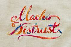 Embroidered typography from Sydney-based, husband and wife studio Maricor/Maricar