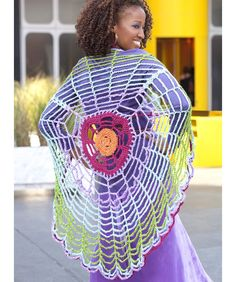 Versatile Circle Wrap - By those Fabulous Double Stitch Twins!  I love this pattern by the twins.  This is their signature piece.  You will see them wearing this all the time.