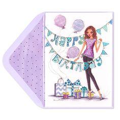 Fashionista Birthday Party Card