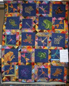 Frogs And Dragonflies Quilt I Would Like One With