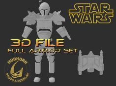 Cosplay Armor - Custom Mandalorian Armor - The Tank - Star Wars Cosplay - 3D File Mandalorian Armor, Jango Fett, Cosplay Armor, Star Wars Rpg, Best Cosplay, 3d Printing, Empire, History, Stars