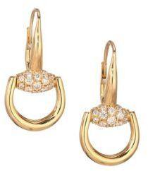 Gucci Horsebit Diamond & 18K Yellow Gold Drop Earrings