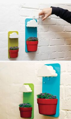 Don't know where these are from but I love them- Rain clouds to water your flowers