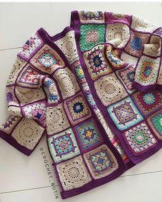 New crochet granny square cardigan ravelry 56 Ideas Crochet Waistcoat, Gilet Crochet, Crochet Coat, Crochet Jacket, Crochet Baby Sweaters, Crochet Baby Boots, Knit Baby Dress, Crochet Clothes, Crochet Pillow Pattern