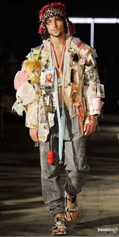Simon Rasmussen Promotes Fashionable Upcycling for Spring 2011 #newspaper trendhunter.com