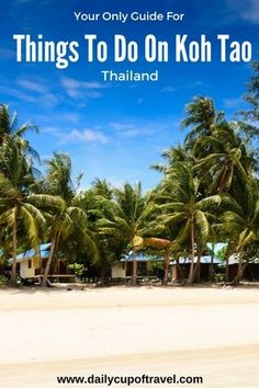 Koh Tao (Turtle Island) is a small paradise island located to the east in the Gulf of Thailand. Known for being one of the most popular destinations for its cheap diving, Koh Tao has a lot more to offer...