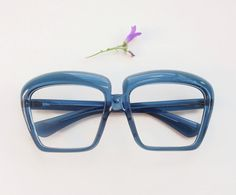 f152220e089 60s oversize eyeglasses   huge bug blue translucent frames   1960s mod eyewear  glasses deadstock  groovy goggles   statement sunglasses