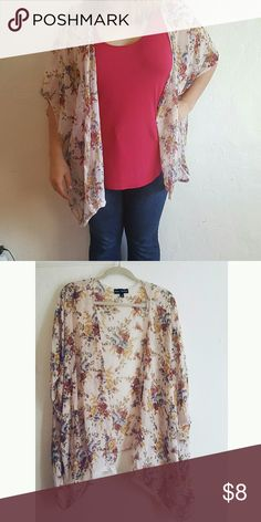 Floral Poncho Light and flowy Floral Poncho. Perfect for spring and summer. Don't forget to bundle if you like more than one item in my closet ☺ Sweaters Shrugs & Ponchos