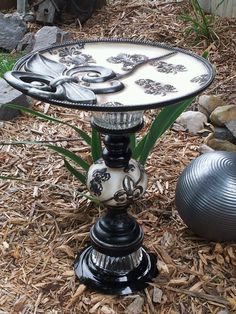 """""""Classic Victorian"""" Designs by Flare. Repurposed yard art."""