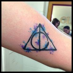 harry potter water color tattoo