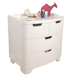 Bedroom #3-Luxo dresser/changing station.  Solid wood and pressed construction (sourced from sustainable forests).  It's low VOC finishes protects baby's health, as well as the environment.