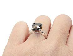 Black Diamond Ring Engagement Ring Anniversary Ring