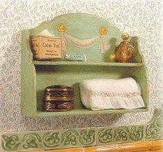 how to: bathroom shelf - this website has many diy dollhouse furniture plans