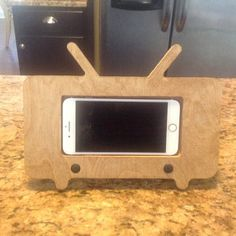 Items similar to Cute Desk Accessory, Desk Accessory for Women, Wooden Phone Holder, Wooden Ipod Holder, Man phone holder on Etsy Iphone Docking Station, Cool Wood Projects, Wooden Organizer, Ipad Stand, Animal Projects, Popsicle Sticks, Science Fair, Furniture Styles, Wood Toys